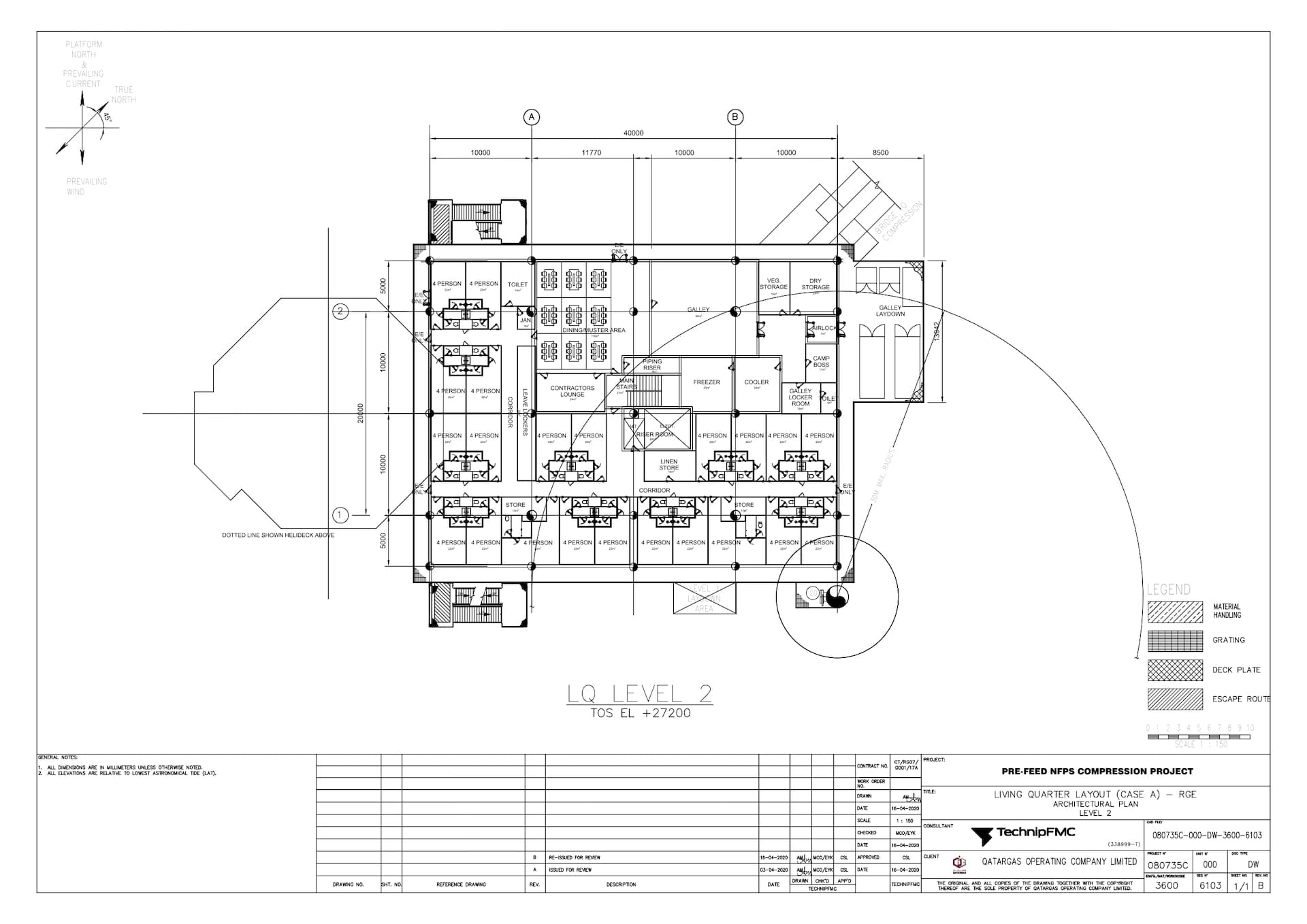 PRE-FEED-NFPS-080735C-000-DW-3600-6103_Rev B LQ Layout (Case A) - RGE - Architectural Plan - Level 2_page-0001