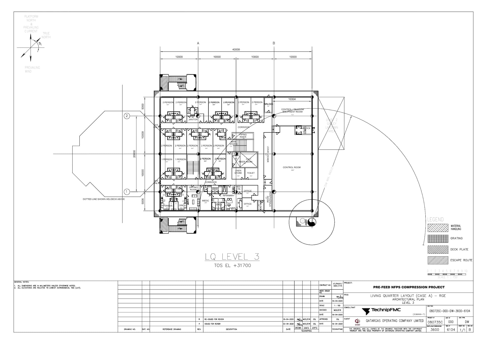 PRE-FEED-NFPS-080735C-000-DW-3600-6104_Rev B LQ Layout (Case A) - RGE - Architectural Plan - Level 3_page-0001