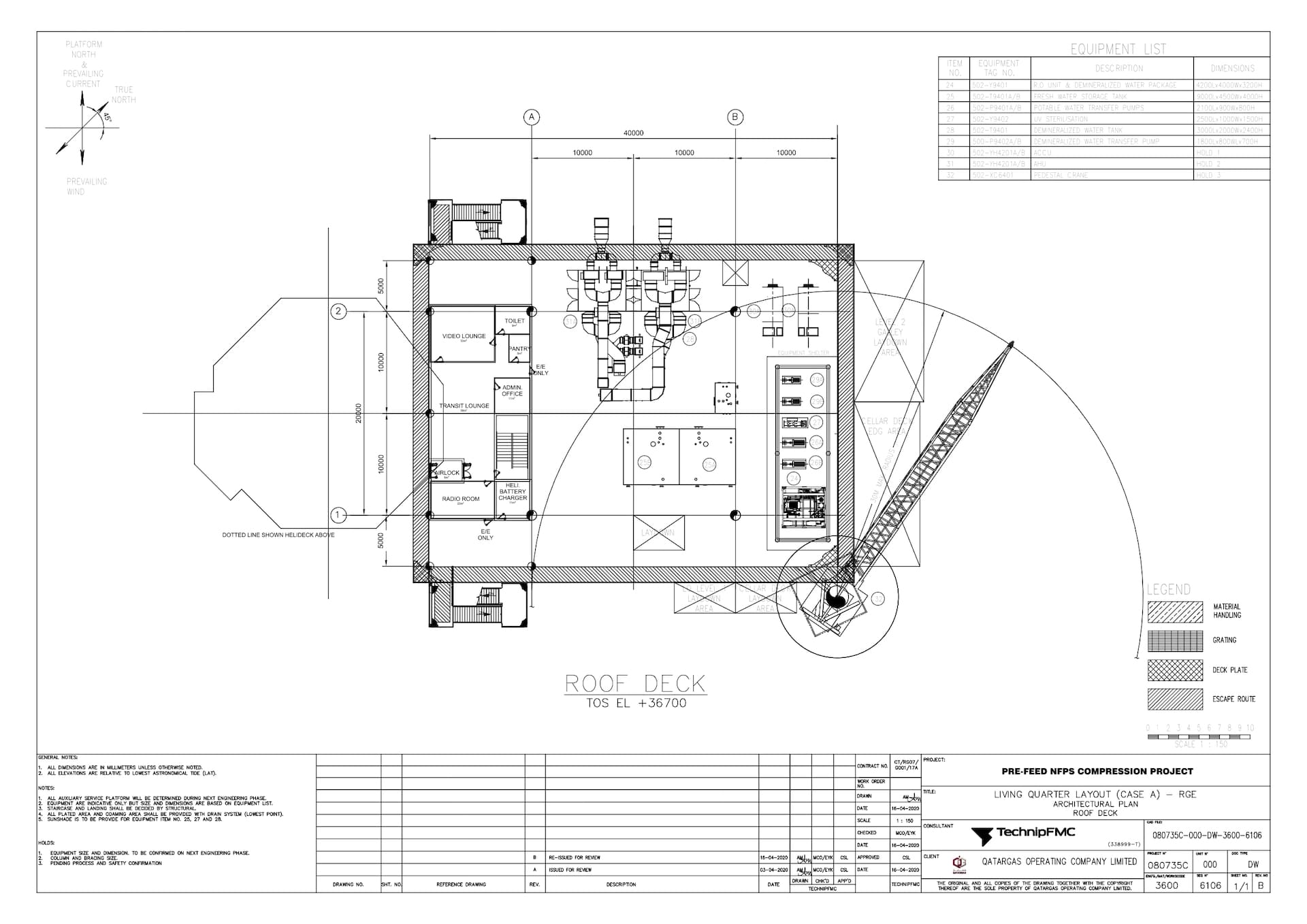 PRE-FEED-NFPS-080735C-000-DW-3600-6106_Rev B LQ Layout (Case A) - RGE - Architectural Plan - Roof Deck_page-0001