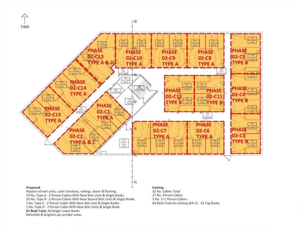 Section 4.2 - Sht 001 Deck-C Cabin _ Wet Unit Phasing