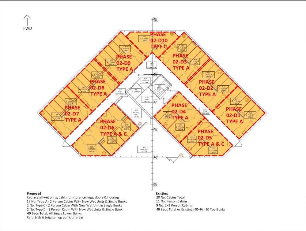 Section 4.2 - Sht 002 Deck-D Cabin _ Wet Unit Phasing