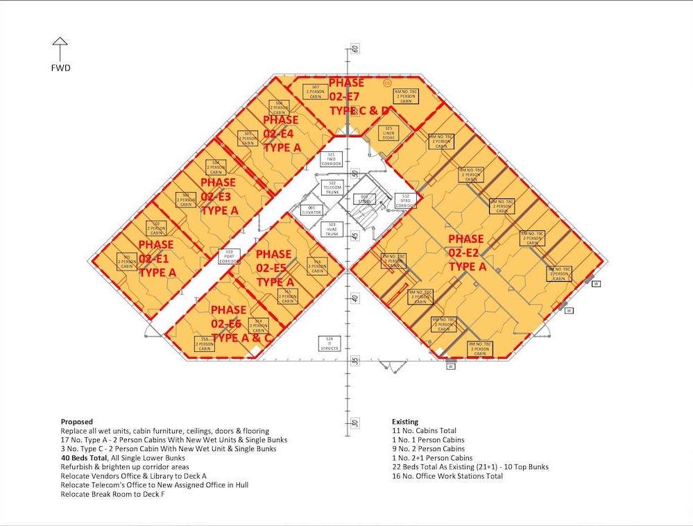Section 4.2 - Sht 003 Deck-E Cabin _ Wet Unit Phasing